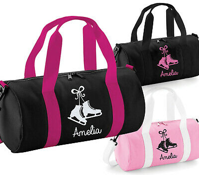 Personalised Womens Girls Ice Skates Skating Glitter Barrel Bag Uniform Kit