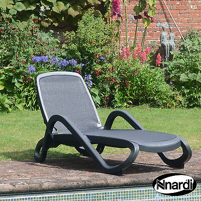 £350 for A PAIR of SUPERB NARDI ALFA TOP QUALITY SUNLOUNGER in ANTHRACITE