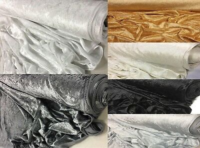 Plain Thick Crushed Velvet Fabric Material For Curtain Wedding Craft Clothing