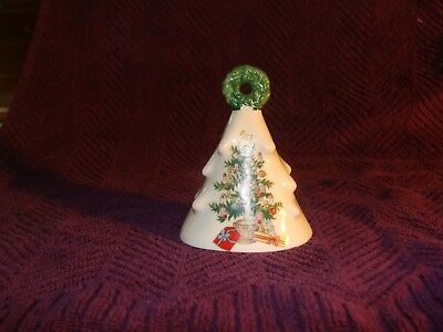 "3.5"" Lefton Christmas Tree Ceramic - Porcelain Bell #1199"