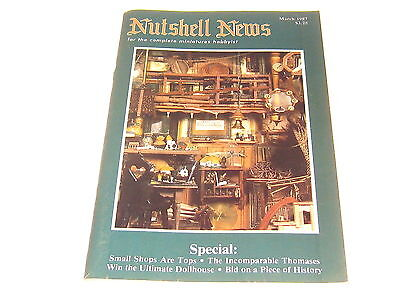 #2372 1987 March  Nutshell News Minatures Magazine For Creators & Collectors