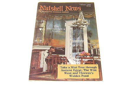 #2374 1987 February  Nutshell News Minatures Magazine For Creators & Collectors
