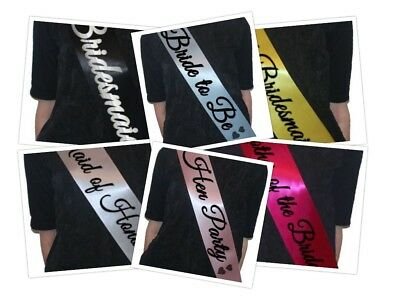 Hen Party Sash/Bride to Be/Maid of Honour/Bridesmaid Accessory  - FREE DELIVERY
