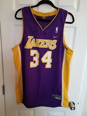 26c4d02b23d Shaquille O Neal Nike Lakers Jersey Mens Size Large L - Shaq Los Angeles LA
