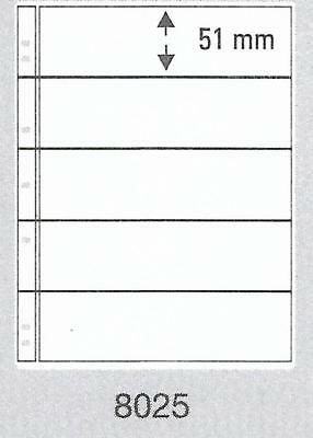 PRINZ PRO-FIL 5 STRIP CLEAR BANKNOTE PAGES Pack 5 Acid Free Sheets Ref No: 8025