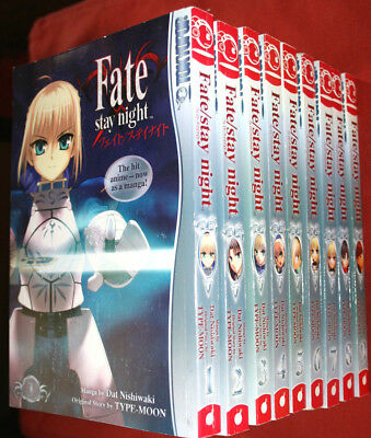 Fate/Stay Night (Dat Nishikawa, Type-Moon) Manga Band 1-9 (Englisch)