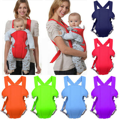 Newborn Infant Baby Sling Backpack Carrier Wrap Breathable Ergonomic Adjustable