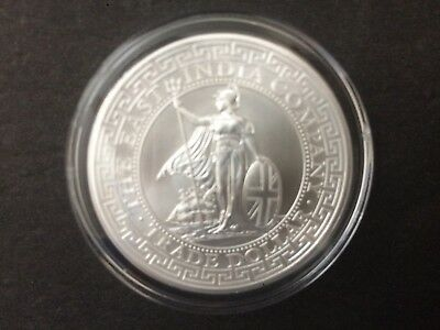 2018 St. Helena 1 oz British Trade Dollar Restrike Silver Bullion coin