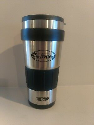 Tim Hortons Thermos Stainless Steel Travel Coffee Mug NEW