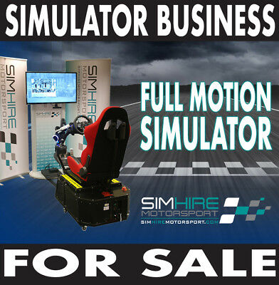 Virtual Reality Full Motion Car Simulator Business business opportunity for sale