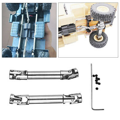 2PC Upgrade Parts Silver Metal Drive Shaft For WPL HengLong 1/16 RC Crawlers Car