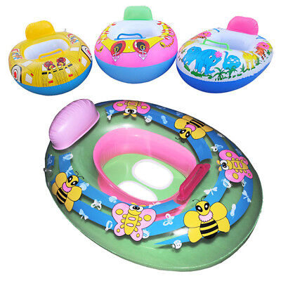 Inflatable Car Baby Kids Toddler Safety Swimming Pool Float Seat Boat Ring Wheel