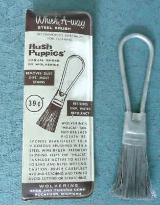 Vintage Hush Puppies Wire Brush - Whisk A-Way Steel Brush by Wolverine