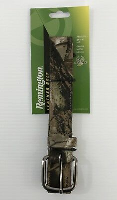 "Remington Leather Camo Belt Adjustable Size From 32""-42"" New Realtree AP"