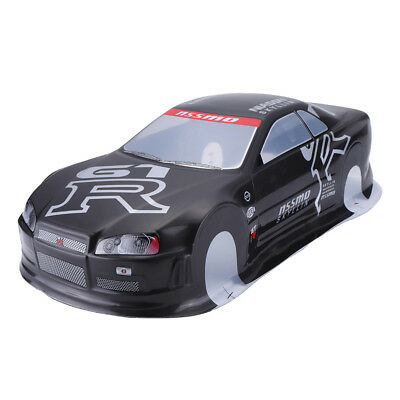 020GR 190MM Painted PVC Body Shell +Rear Wing For 1:10 RC Drift Racing Car Model