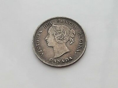 1886 Canada 5 Cent Silver Coin Small 6 925 Silver Coin Old Silver Coin L@@k Here