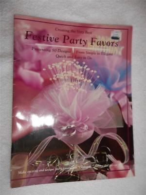 """1991 Booklet """"creating The Very Best Festive Party Favors"""" 50 Designs New"""
