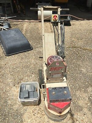 Edco Turbo Sec-1.5L Single Head Concrete Grinder Scarifier Surfacer With Extras