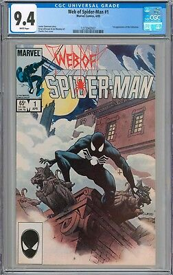 Web of Spider-Man #1 CGC 9.4 NM WHITE PAGES New Case