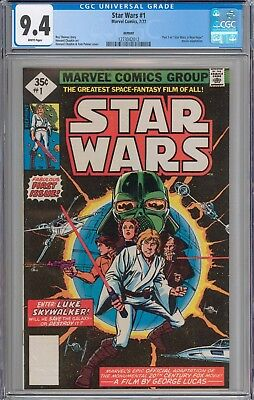 STAR WARS  #1 CGC 9.4 NM WHITE Pages New Slabs RARE 1977 Reprint