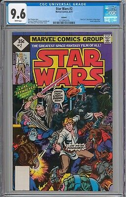 STAR WARS #2 CGC 9.6 NM+ WHITE Pages New Slabs RARE 1977 Reprint