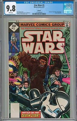 STAR WARS #3 CGC 9.8 NM/MT WHITE Pages New Slab RARE 1977 Reprint