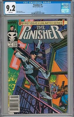 The Punisher #1 CGC 9.2 NM- WHITE PAGES 1st Issue in First Series