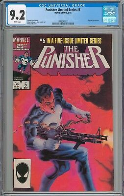 The Punisher Limited Series #5 CGC 9.2 NM- WHITE PAGES