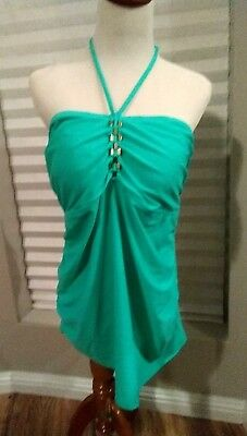 Liz Lange Maternity Jade Green Halter Swim Tankini Top Women's size XL