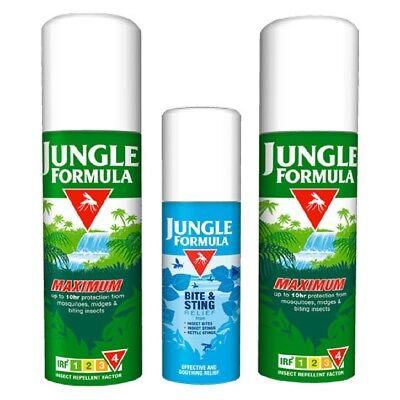 Jungle Formula Insect Repellent  Spray Mosquito Bite Sting Protection Spray UK