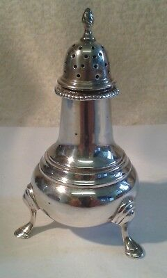 Solid Silver Pepperette - 1947 - 48 gms. - 9 cms. high.