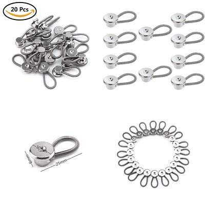 CBTONE 20 PCS Metal Collar Extenders, Button Extender, Elastic Extenders for
