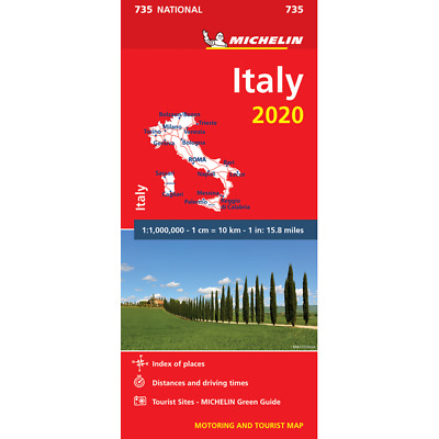 Italy 2018 Map - Michelin 735 - New - Current Edition