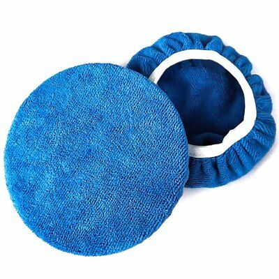 "5-10"" Superfine Fiber Car Polishing Waxing Polisher Bonnet Buffing Pad Cover New"