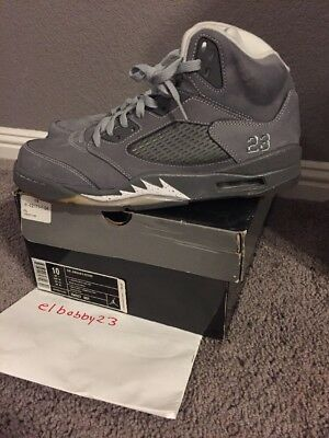 release date 1128f f2bee 2011 Nike Air Jordan 5 Retro Wolf Grey Size 10 Light Graphite White  136027-005