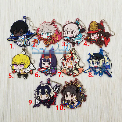 Anime Fate//Grand Order FGO Acrylic Keychain Key Ring Race Straps Cosplay  AA