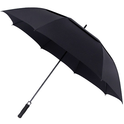 Golf Umbrella Windproof Large 62 Inch, Double Canopy Vented, Automatic Open,