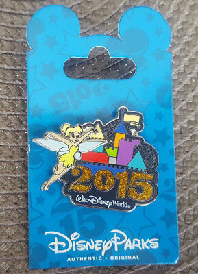 Walt Disney World Pin 2015 Dated Logo Tinker Bell Castle New OnCard Open Edition