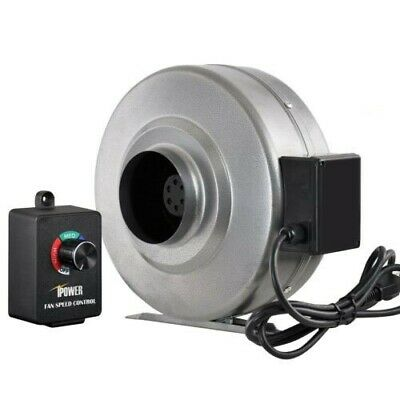 "iPower 6"" Inch 442CFM Inline Duct Ventilation Fan with Variable Speed Controller"