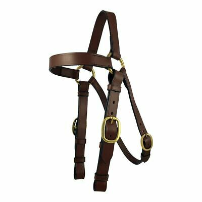 Brown Leather Barcoo Stockman Horse Bridle With Reins & Brass Fittings FULL COB