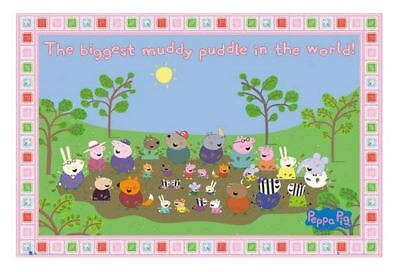 Peppa Pig Biggest Muddy Puddle Poster Framed - 841mm x 1189mm - Licenced