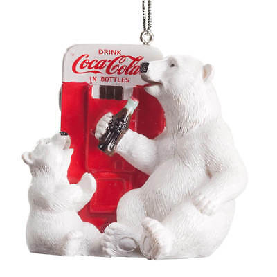 Coca-Cola Polar Bear Cub Ornament Christmas Tree Holiday Vending Machine Gift A