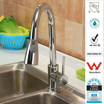 TAPCET Faucet Mixer Tap Hot&Cold Water Swivel Pull Down Spray Kitchen Basin Sink