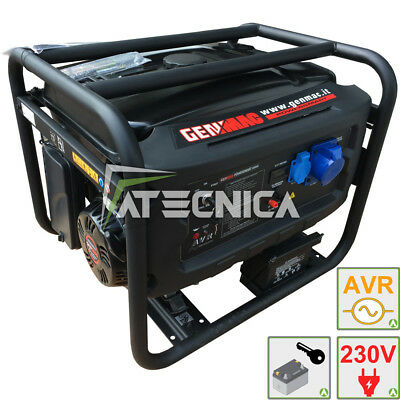 Power generator 6Kw GENMAC G6000E engine-generator + starting electrical