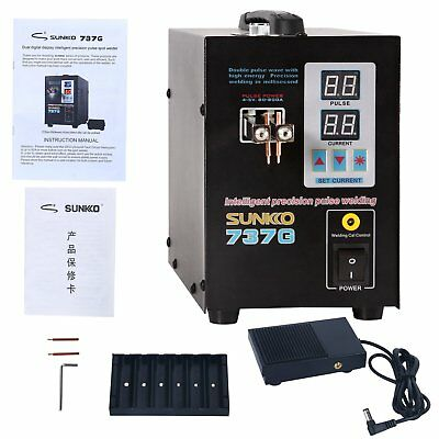 Hand Held SUNKKO 737G Battery Spot Welder with Pulse & Current Display US Ship