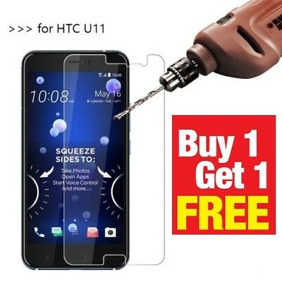 New Tempered Glass Screen Protector For HTC U11 Full Size Cover Premium Quality