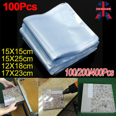 Multi-size Transparent Shrink Wrap Bag Film Heat Seal Pouch Gift Pack of 100