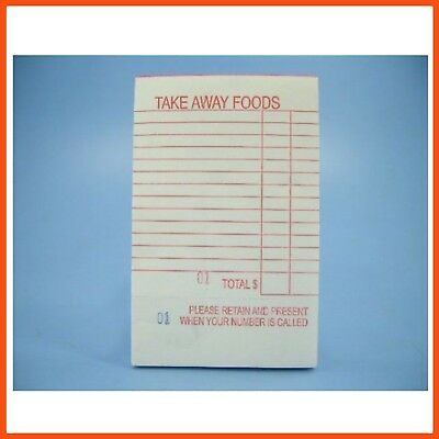 20 x TAKE AWAY FOOD ORDER PAD 100 pages | Restaurant Pads Pub Cafe Ordering Book