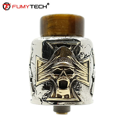 Fumytech Damnation RDA Atomizzatore BF DTL Dripping Atomizer Argento Authentic