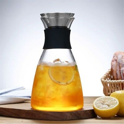 Juice Glass Water Jug Water Carafe Iced Tea Pitcher Stainless Steel Lid Tea pot